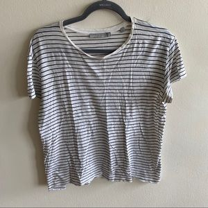 VINCE Relaxed Fit Striped Cotton Shirt Sz Small